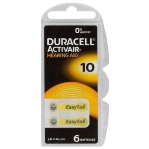 Duracell ActivAir elementai klausos aparatams PR70 10, 6 vnt.