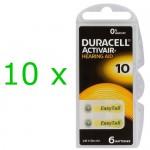 Duracell ActivAir elementai klausos aparatams PR70 10, 60 vnt.
