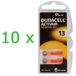 Duracell ActivAir elementai klausos aparatams PR48 13, 60 vnt.