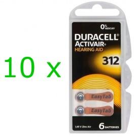 Duracell ActivAir elementai klausos aparatams PR41 312, 60 vnt.