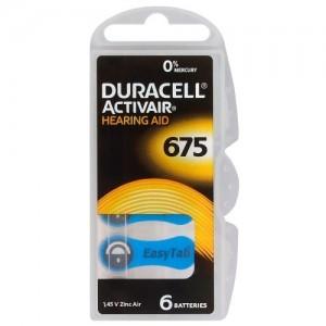 Duracell ActivAir elementai klausos aparatams PR44 675, 6 vnt.