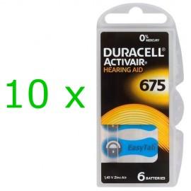 Duracell ActivAir elementai klausos aparatams PR44 675, 60 vnt.