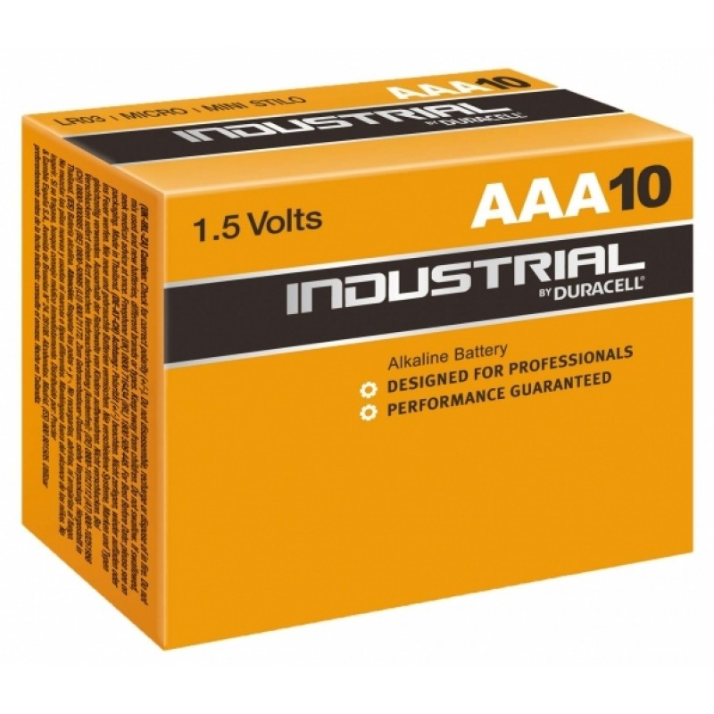 Duracell Industrial AAA elementas, 10 vnt.