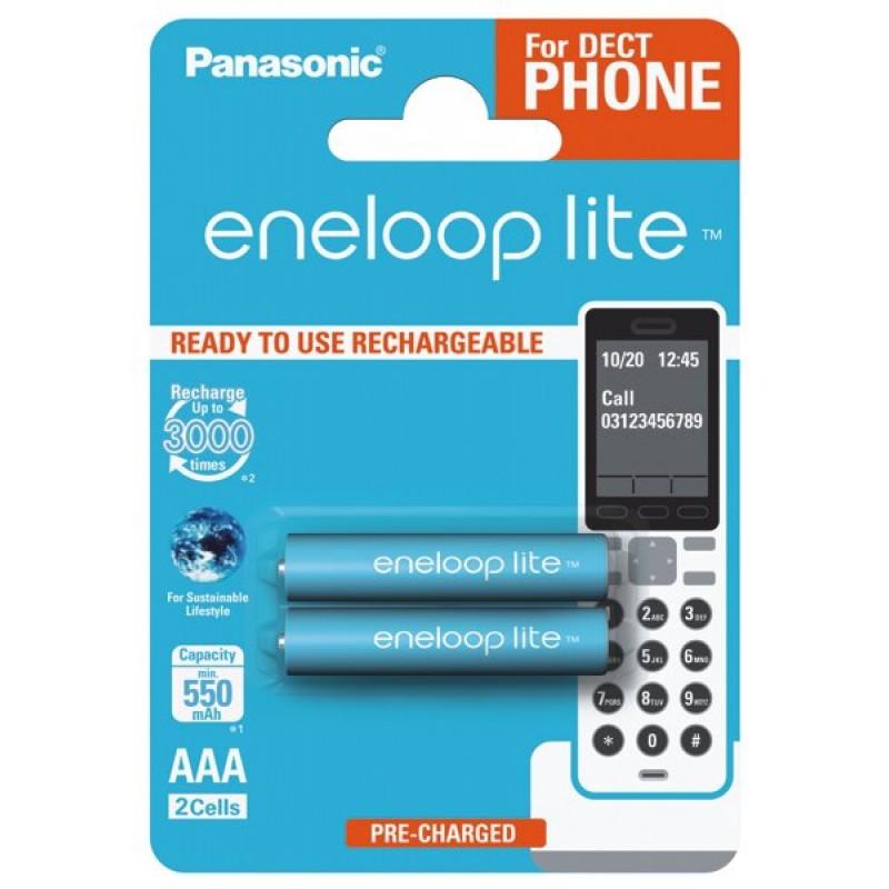 Panasonic Eneloop Lite 550mAh AAA akumuliatorius, 2 vnt.
