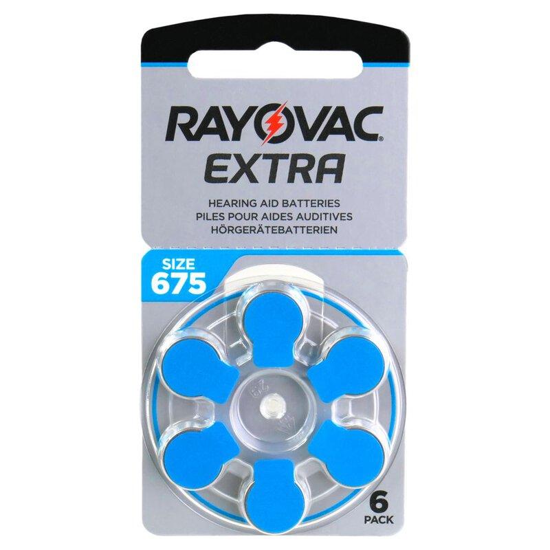 Rayovac Extra elementai klausos aparatams PR44 675, 6 vnt.