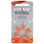Rayovac Extra elementai klausos aparatams PR48 13, 6 vnt.