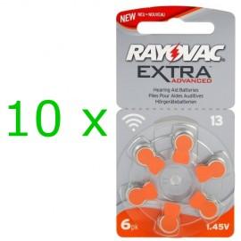 Rayovac Extra elementai klausos aparatams PR48 13, 60 vnt.