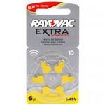 Rayovac Extra elementai klausos aparatams PR70 10, 6 vnt.