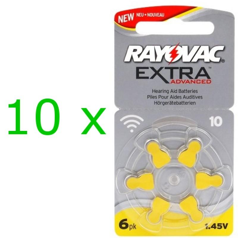 Rayovac Extra elementai klausos aparatams PR70 10, 60 vnt.