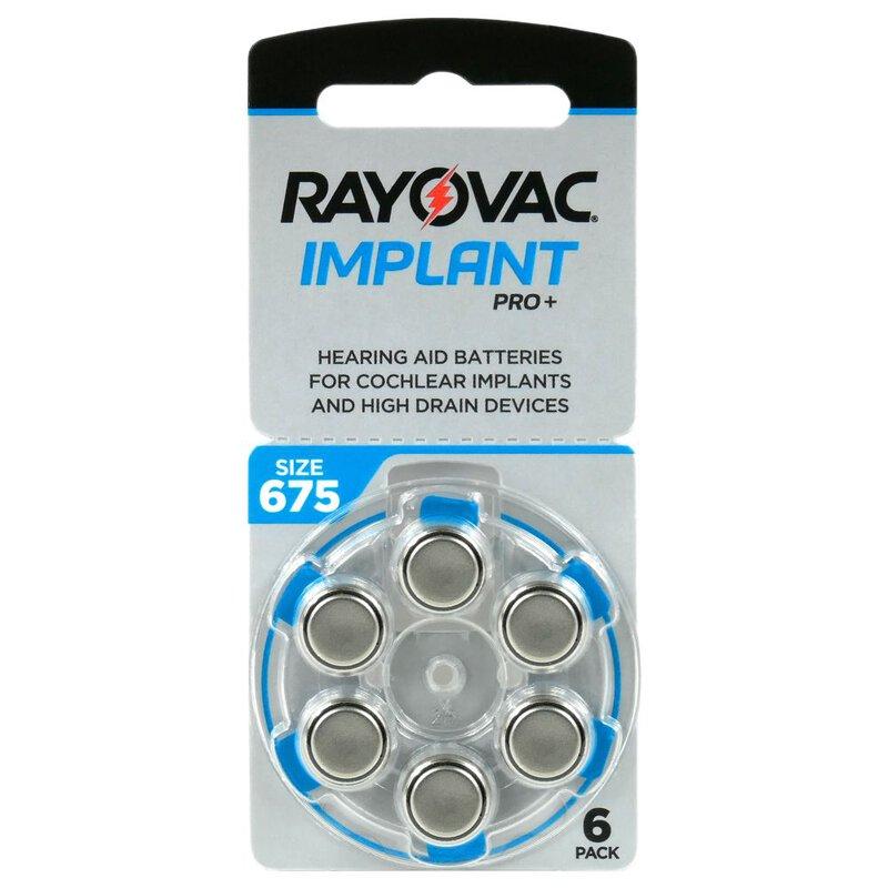 Rayovac Implant PRO+ elementai kochleariniams implantams PR44 675, 6 vnt.