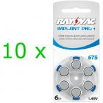 Rayovac Implant PRO+ elementai kochleariniams implantams PR44 675, 60 vnt.