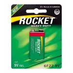 Rocket Heavy Duty 9V baterija, 1 vnt.