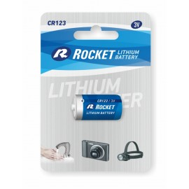 Rocket Lithium CR123 elementas, 1 vnt.