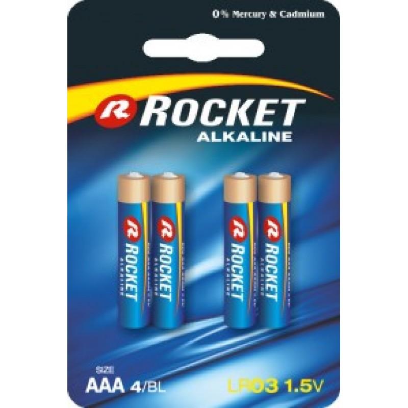 Rocket Alkaline AAA elementas, 4 vnt.