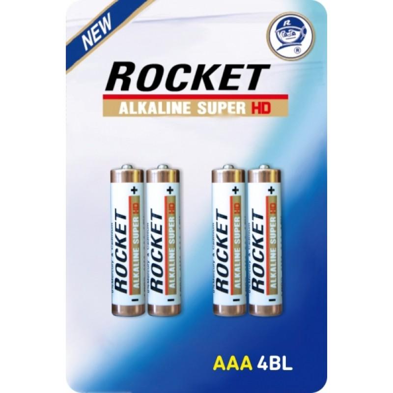 Rocket Alkaline HD AAA elementas, 4 vnt.