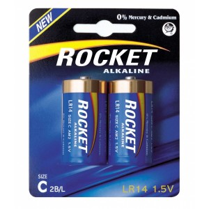 Rocket Alkaline C elementas, 2 vnt.