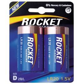 Rocket Alkaline D elementas, 2 vnt.