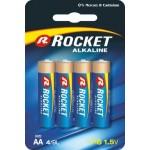 Rocket Alkaline AA elementas, 4 vnt.