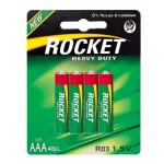 Rocket Heavy Duty AAA elementas, 4 vnt.