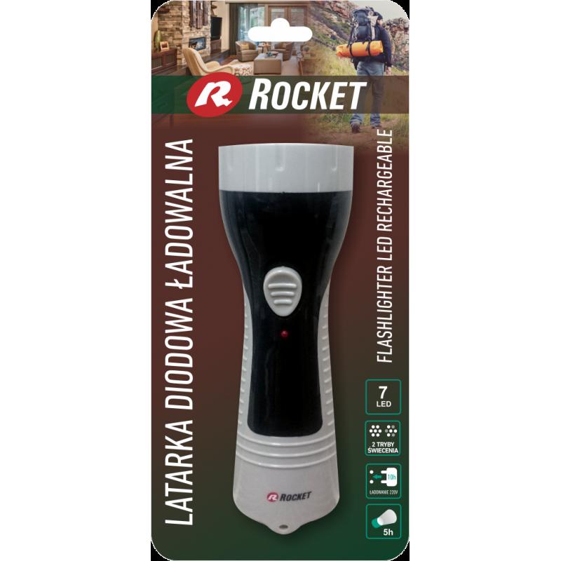 Rocket įkraunamas 7LED prožektorius