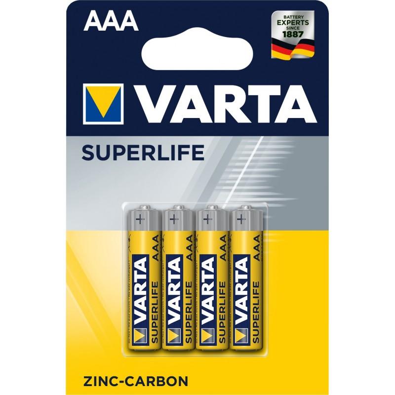 Varta Superlife AAA elementas, 4 vnt.