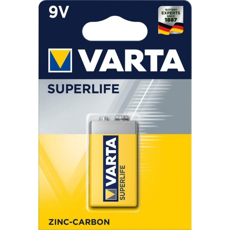 Varta Superlife 9V baterija, 1 vnt.