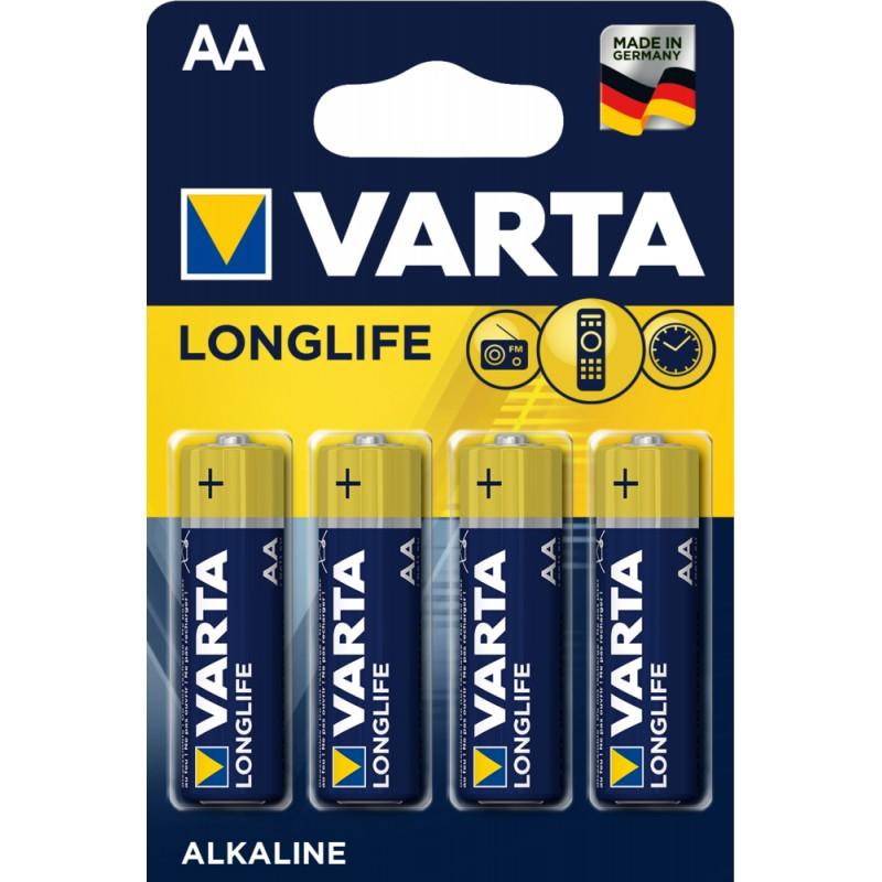 Varta Longlife AA elementas, 4 vnt.