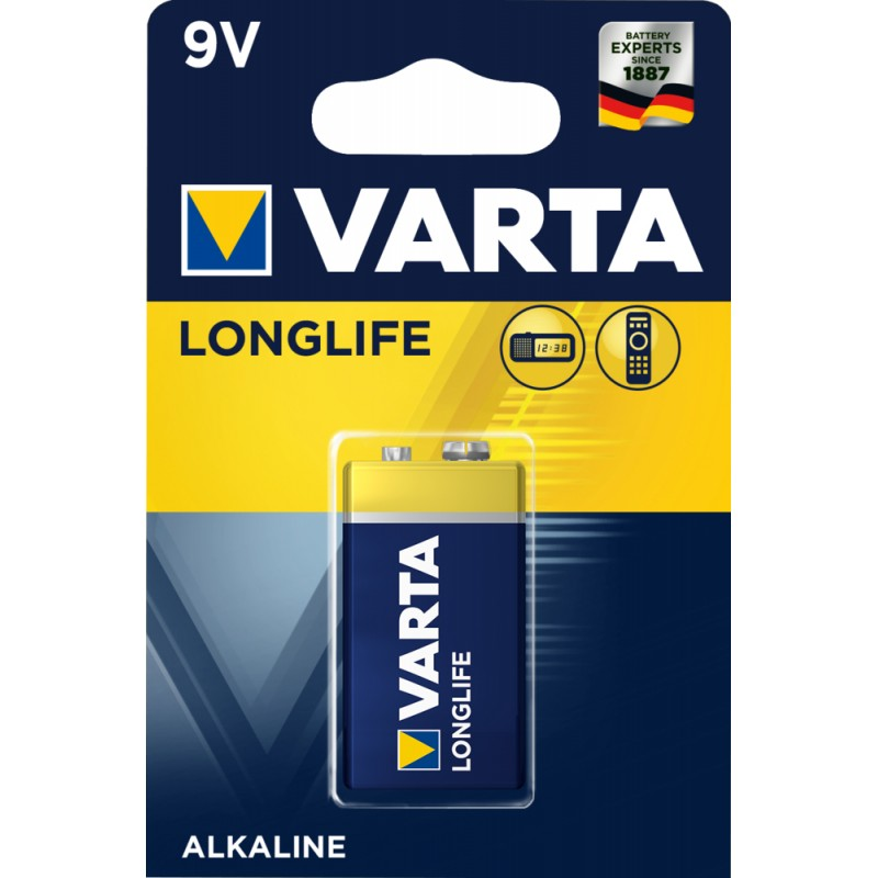 Varta Longlife 9V baterija, 1 vnt.