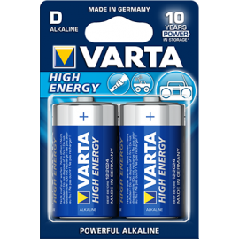 Varta High Energy D elementas, 2 vnt.