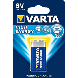 Varta High Energy 9V baterija, 1 vnt.