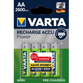 Varta Recharge Accu Power 2600mAh AA akumuliatorius, 4 vnt.