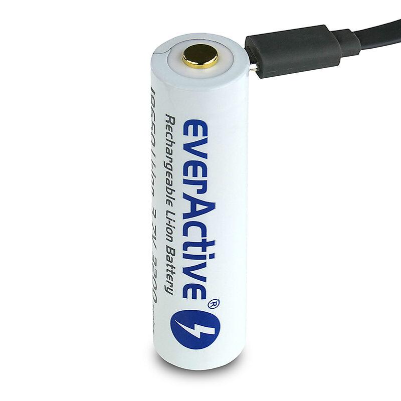 everActive USB įkraunamas 18650 3200mAh akumuliatorius su PCM
