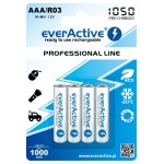 everActive Professional Ready to Use 1050mAh AAA akumuliatorius, 4 vnt.