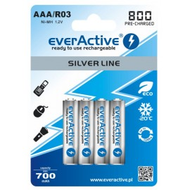 everActive Silver Line Ready to Use 800mAh AAA akumuliatorius, 4 vnt.