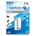 everActive Silver line Ready to Use 9V 250mAh akumuliatorius, 1 vnt.