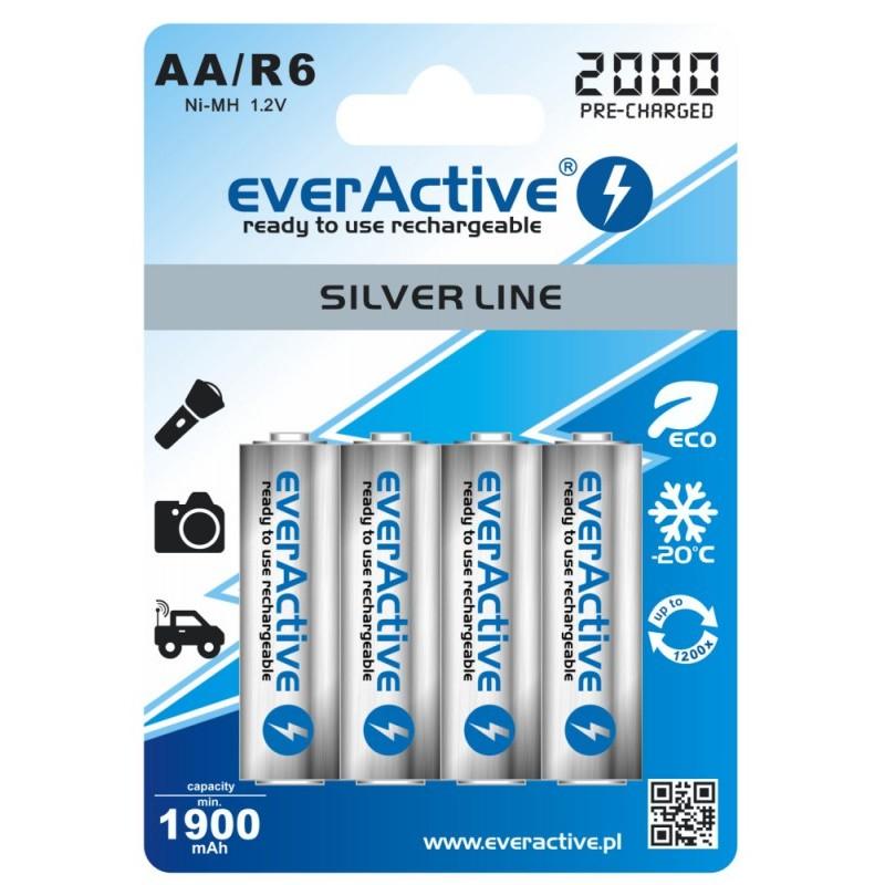 everActive Silver Line Ready to Use 2000mAh AA akumuliatorius, 4 vnt.