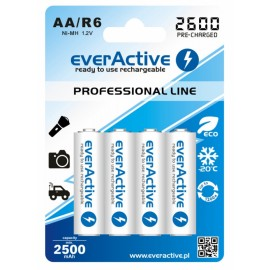 everActive Professional Ready to Use 2600mAh AA akumuliatorius, 4 vnt.
