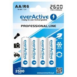 everActive Professional Ready to Use 2600mAh AA akumuliatorius, 4 vnt.