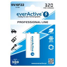 everActive Professional Ready to Use 9V 320mAh akumuliatorius, 1 vnt.