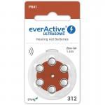 everActive Ultrasonic elementai klausos aparatams PR41 312, 6 vnt.