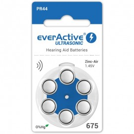 everActive Ultrasonic elementai klausos aparatams PR44 675, 6 vnt.