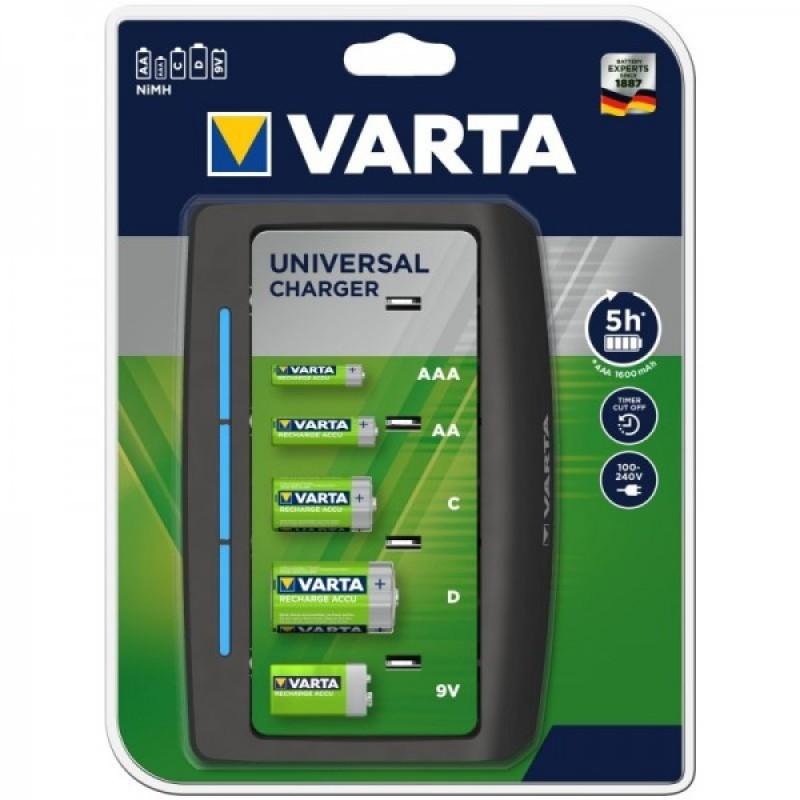 Varta universalus AAA/AA/C/D/9V elementų kroviklis Universal Charger