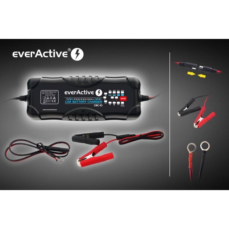 everActive universalus automatinis 9 etapų 12/24V 10-300Ah akumuliatorių kroviklis