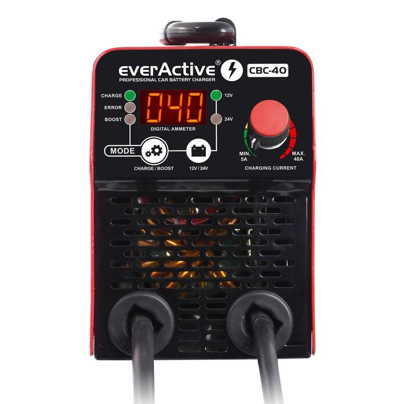 """everActive automatinis inverterinis 12/24V akumuliatorių kroviklis su 300A """"boost"""" funkcija"""