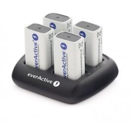 everActive automatinis 4 x 9V įkraunamų baterijų įkroviklis