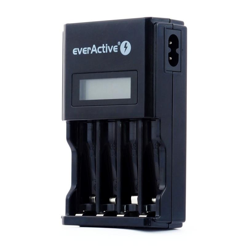 everActive automatinis AA/AAA elementų įkroviklis su LCD ekranu NC-450 Black