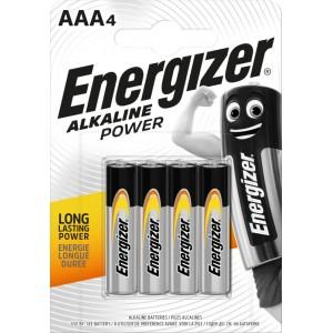 Energizer Alkaline Power LR03 AAA elementai, 4 vnt.