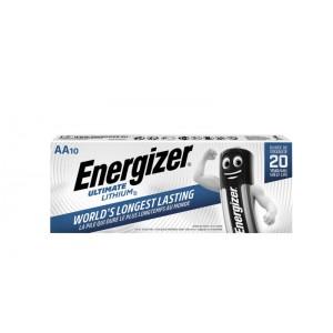Energizer Ultimate Lithium AA elementai, 10 vnt.
