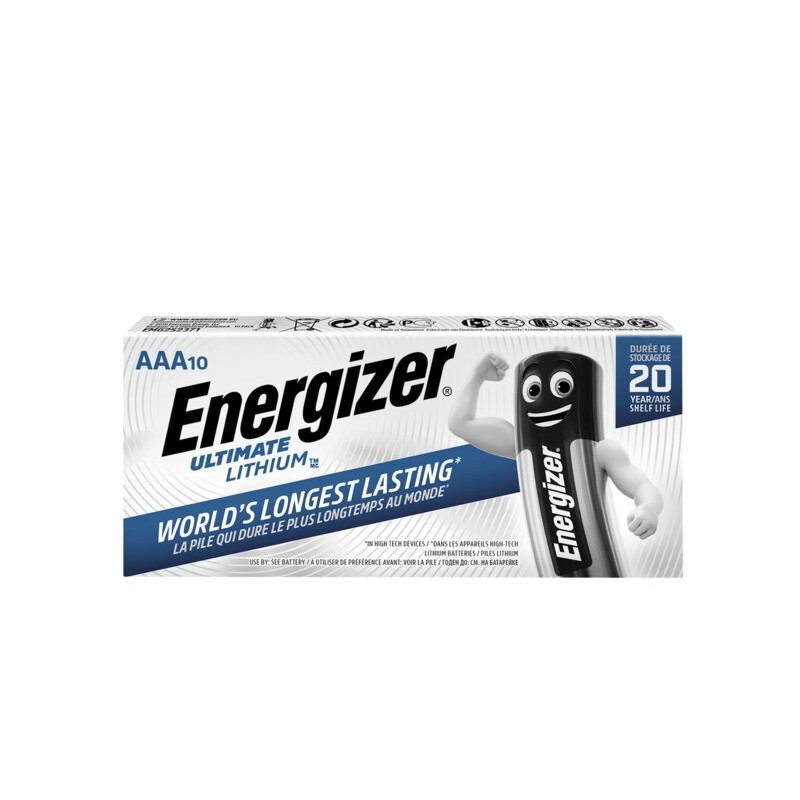 Energizer Ultimate Lithium AAA elementai, 10 vnt.