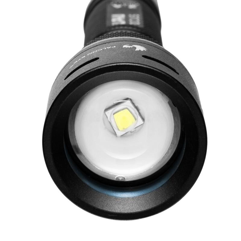 Falcon Eye įkraunamas 500lm žibintuvėlis su fokusavimo funkcija ALPHA 2.4 (dėžutėje)